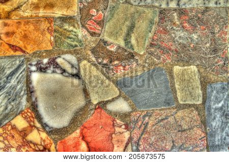 Detail of a stone wall, shoot in HDR.