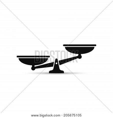 Scales black icon. Vector scale simple illustration.