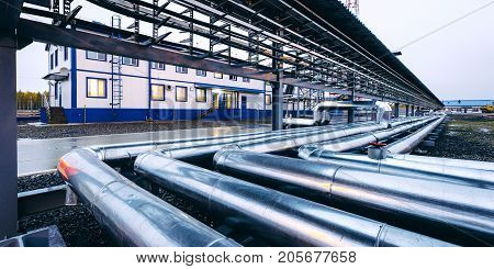 oil pipe plant natural gas station equipment