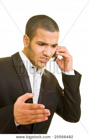 Angry Business Man On The Phone