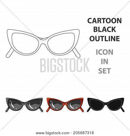 sunglasses for protection from the sun.Summer rest single icon in cartoon style vector symbol stock web illustration.