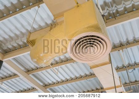 Building interior air duct Air condition pipe line system Air flow industrial design