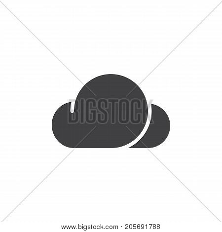 Cloud icon vector, filled flat sign, solid pictogram isolated on white. Symbol, logo illustration.