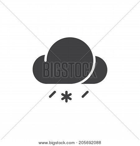 Sleet icon vector, filled flat sign, solid pictogram isolated on white. Symbol, logo illustration.