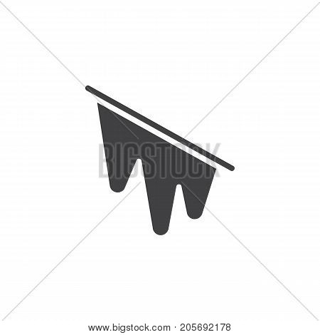 Icy icon vector, filled flat sign, solid pictogram isolated on white. Symbol, logo illustration.