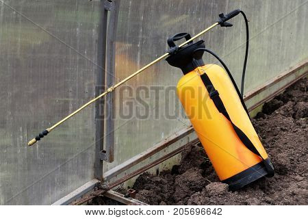 Spray pesticides for the treatment of plantsgarden tools object
