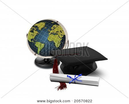 Graduation Hat And Globe
