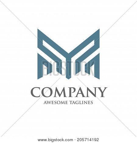 best Abstract letter M, letter Y, business logo design template.