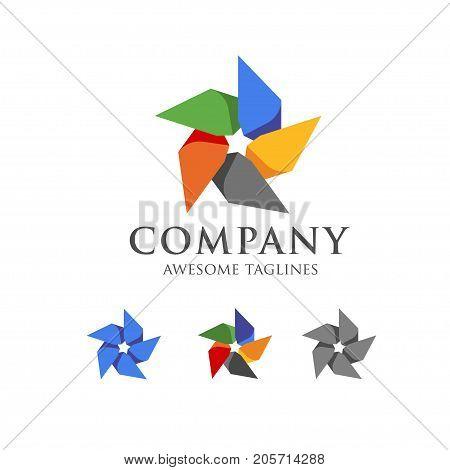 creative  simple design windmill, Whirligig icon vector, pinwheel Flat icon isolated