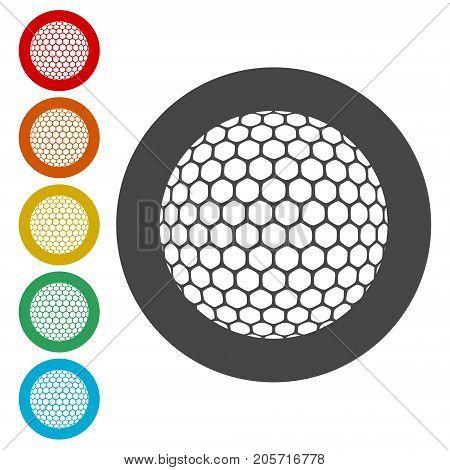 Vector golf ball, Simple Vector Golf ball