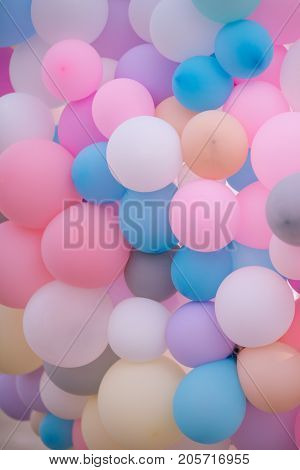 big set of multi - colored balloons