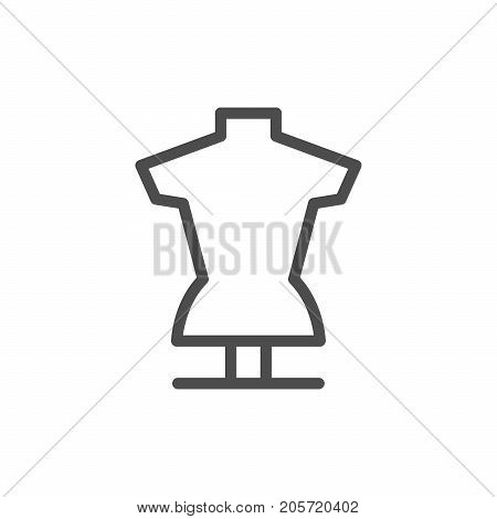 Tailors dummy line icon isolated on white. Vector illustration