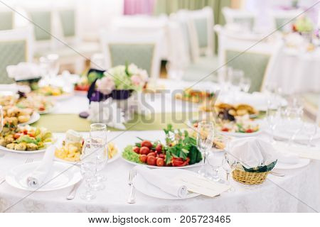 Decorated Banquet Table Setting