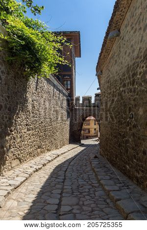 Hisar Kapia - Ancient gate in Plovdiv old town, Bulgaria