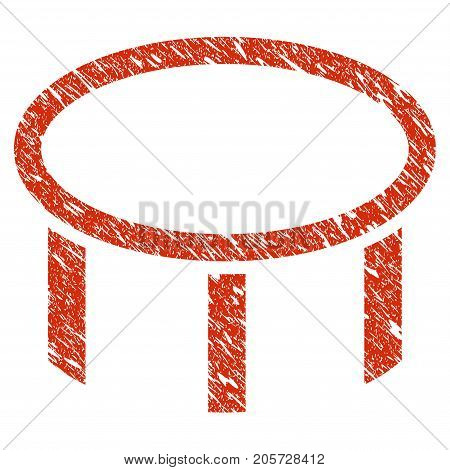 Grunge Burner Nozzle rubber seal stamp watermark. Icon burner nozzle symbol with grunge design and dust texture. Unclean vector red sticker.
