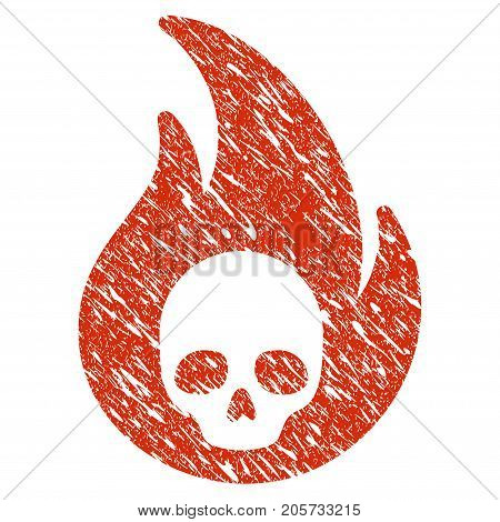 Grunge Hellfire rubber seal stamp watermark. Icon hellfire symbol with grunge design and dirty texture. Unclean vector red emblem.