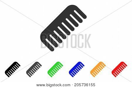 Comb icon. Vector illustration style is a flat iconic comb symbol with black, gray, green, blue, red, orange color additional versions. Designed for web and software interfaces.