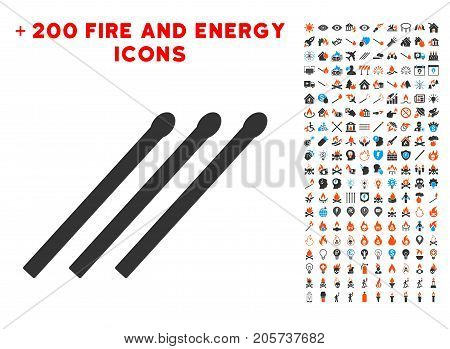 Matches pictograph with bonus power pictograms. Vector illustration style is flat iconic symbols for web design, app ui.