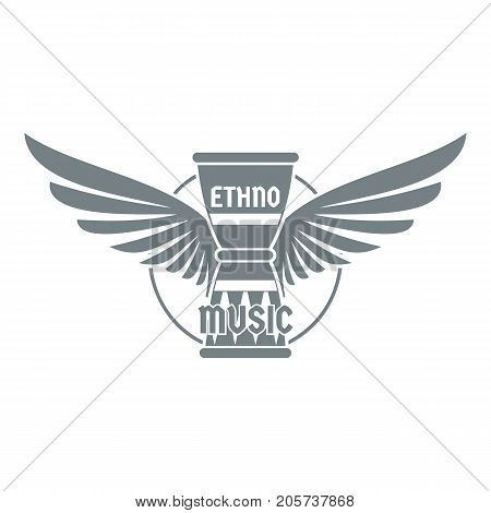 Percussion instrument logo. Simple illustration of percussion instrument vector logo for web