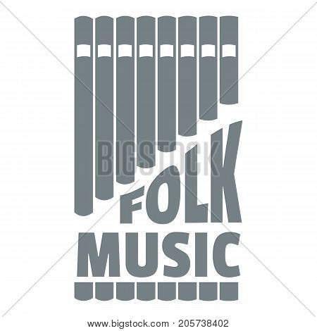 Flute pan logo. Simple illustration of flute pan vector logo for web
