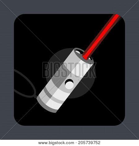 Laser light concept background. Cartoon illustration of laser light vector concept background for web design