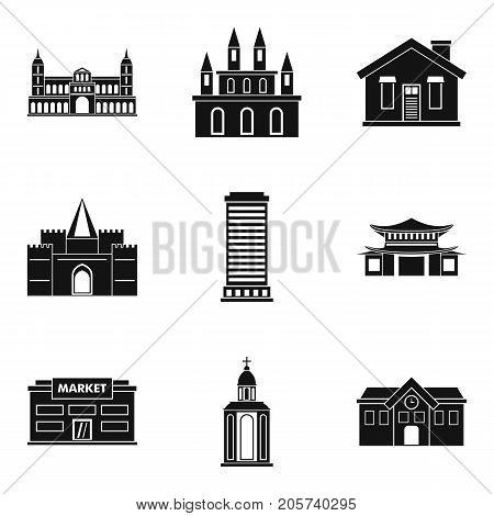 Refuge icons set. Simple set of 9 refuge vector icons for web isolated on white background