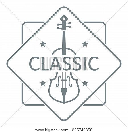 Violin logo. Simple illustration of violin vector logo for web