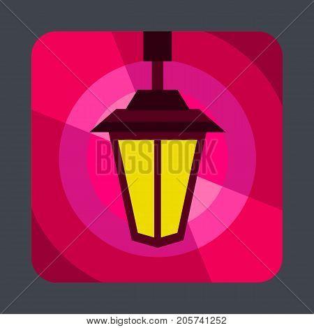 Street light concept background. Cartoon illustration of street light vector concept background for web design