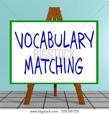 Vocabulary Matching Concept
