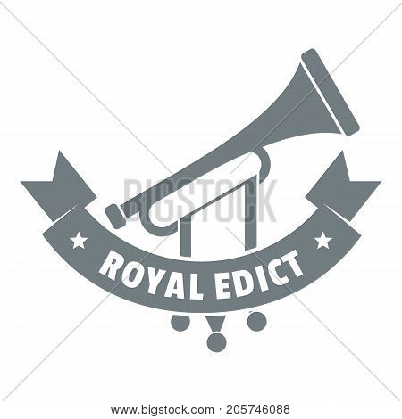 Trumpet logo. Simple illustration of trumpet vector logo for web