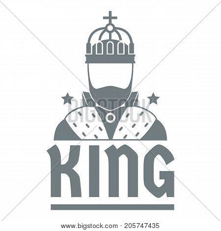 King logo. Simple illustration of king vector logo for web