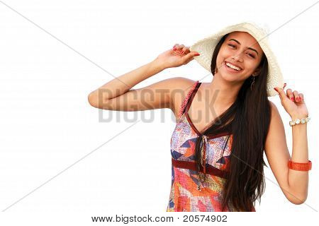 Young Indian Girl smiling.
