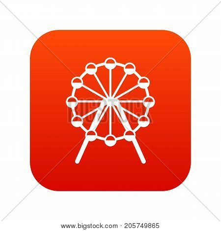 Singapore Flyer, tallest wheel in the world icon digital red for any design isolated on white vector illustration