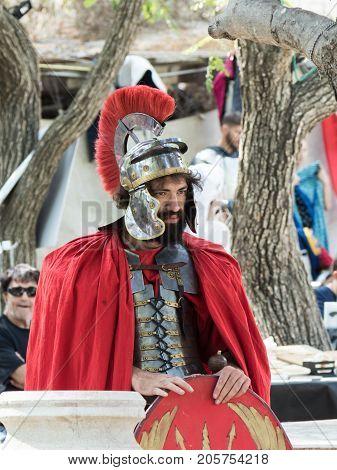 Jerusalem Israel September 23 2017 : The participant of the festival