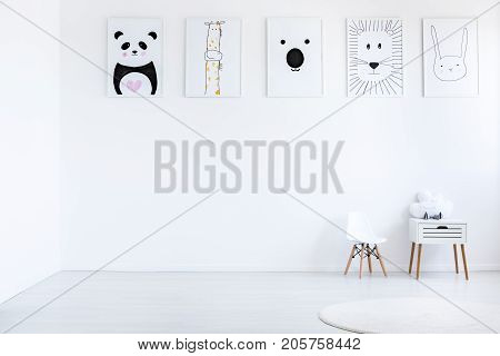 Posters In Autistic Child Bedroom