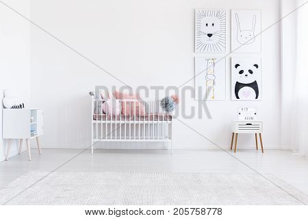 Simple Kid's Bedroom With Posters