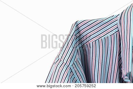 Pinstriped dress shirt on a white background