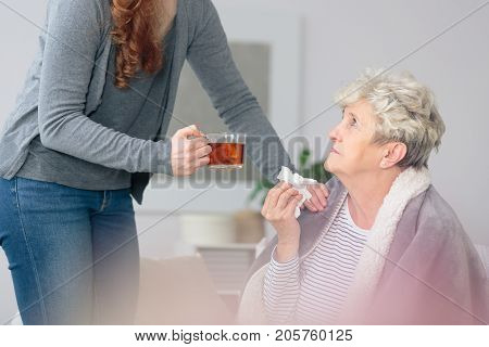 Taking Care Of Ill Grandmother