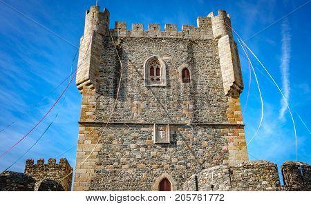 Bottom view of the castle of Braganza merlon