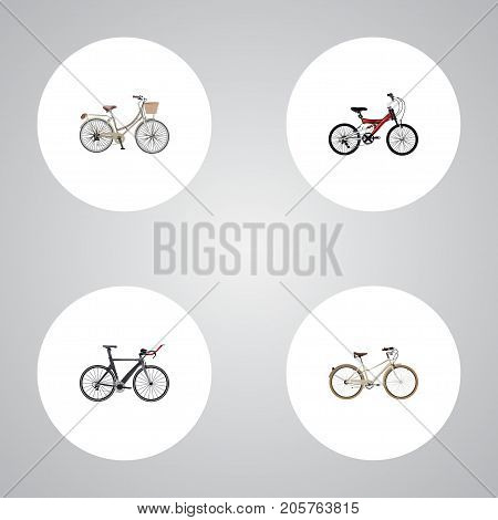 Realistic Brand , Competition Bicycle, Adolescent Vector Elements