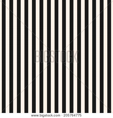Vertical stripes seamless pattern. Symmetric straight lines texture. Modern abstract geometric striped background. Simple monochrome black & white illustration. Stripes pattern. Lines pattern. Design pattern. Textile pattern. Covers pattern.