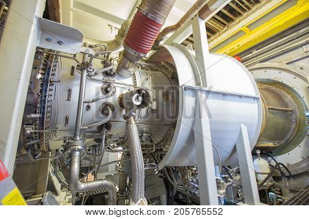 Gas turbine engine is the prime mover of gas compressor centrifugal type this engine same as plane engine.