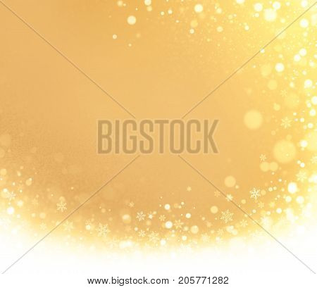 Abstract Gold Winter Background