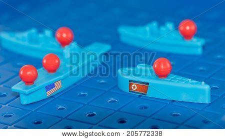 North Korean Submarine And A Us Aircraft Carrier