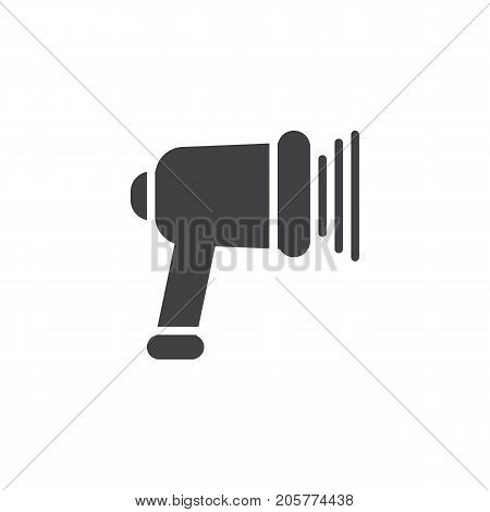 Scanning barcode icon vector, filled flat sign, solid pictogram isolated on white. Symbol, logo illustration.