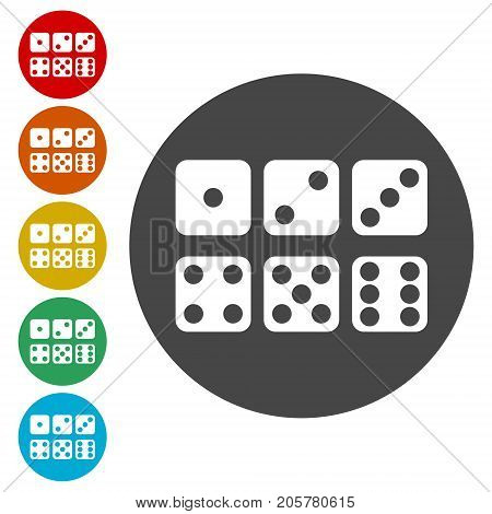 Dice Icon, Vector dices icon, simple vector icon
