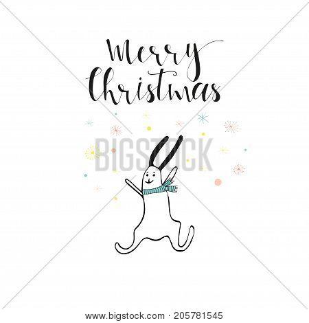 Merry Christmas Cute Greeting Card