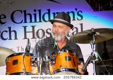 Danny Seraphine performs at the 10th Annual Scott Medlock-Robby Krieger All-Star Concert benefiting St. Jude Children's Research Hospital at Saddlerock Ranch in Malibu, CA on Aug. 27, 2017.