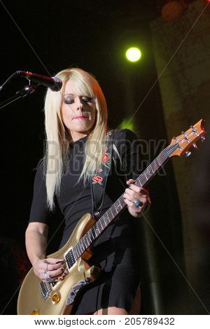 Orianthi performs at the 10th Annual Scott Medlock-Robby Krieger All-Star Concert benefiting St. Jude Children's Research Hospital at Saddlerock Ranch in Malibu, CA on Aug. 27, 2017.