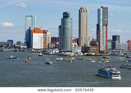 Rotterdam, The Netherlands From The Riverside